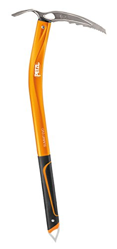 Petzl Erwachsene Eispickel Summit EVO, Orange, 59 cm, U14B