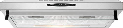 Bomann DU 623.3 Dunstabzugshaube Unterbau, Glas-Wrasenschirm, Umluft-oder Abluftbetrieb, 3 Leistungsstufen, LED Beleuchtung / 204,9 m³/h, Edelstahl-optik