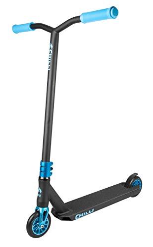 Chilli Stunt-Scooter Sun Reaper | Schwarz-Orangener Pro-Scooter für Einsteiger & Profis | Robuster Roller, drehbarer Lenker ideal für Tricks geeignet | Leicht & schnell für maximales Fahrvergnügen