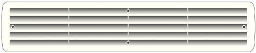 Kunststoffgitter Badezimmerlüftung Lüftungsgitter Türlüftung verschiedene Farben (Weiß)