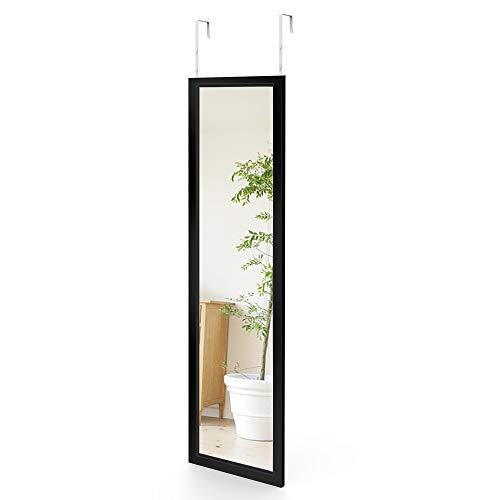 Dripex Wandspiegel 33x119cm Hängespiegel unbrechbarer Garderobenspiegel Flurspiegel höhenverstellbarer Spiegel mit Haken 10 Jahre Garantie (Schwarz)