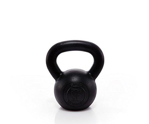 Suprfit Econ Kettlebell 12 kg | Kugelhantel | Schwunghantel | für Cross Training, Gewichtheben oder Bodybuilding | Gusseisen | Geeigent zum Reißen, Stoßen und Drücken | Schwarz lackiert