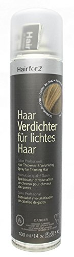 Hairfor2 Haarverdichtungsspray dunkelblond, 1er Pack (1 x 400 g)