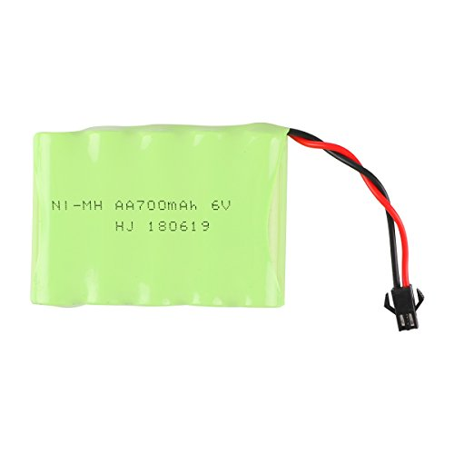 NI-MH Battery 6v 700mAh Akku Universal for 333-GS02B 333-GS03B 333-GS05B 333-GS06B Spare Part Replacement Remote Control Rc Cars Vehicles by Crazepony-UK