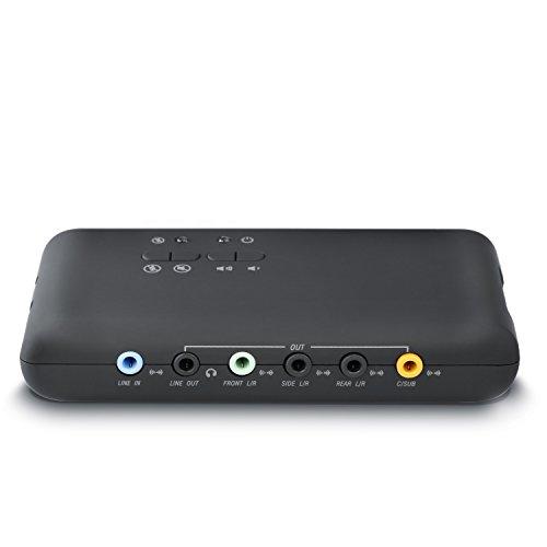 CSL - USB 7.1 Soundkarte extern (8-Kanal) | 7.1 Channel USB Soundbox | Dynamic 3D Surround Sound | für bis zu 8 Lautsprecher | gleichzeitige Aufnahme und Wiedergabe | analoge und digitale Audiogeräte | Farbe: schwarz