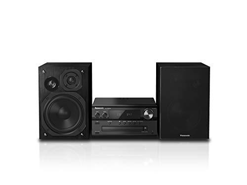 Panasonic SC-PMX94EG-K Micro HiFi System in schwarz (120 Watt RMS, Digitalradio DAB+, CD, UKW Radio, Bluetooth, USB, AUX)