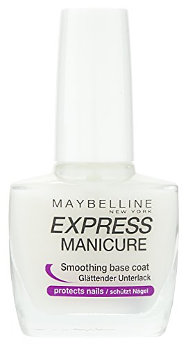 Maybelline New York Make-Up Nailpolish Express Manicure Nagellack Base Coat Repair Fluid / Glättender Unterlack zum Schutz der Nägel, 1 x 10 ml