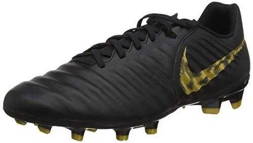 Nike Herren Legend 7 Academy Fg Fußballschuhe, Schwarz (Black/Mtlc Vivid Gold 077), 43 EU