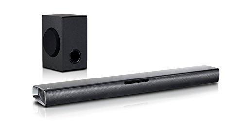 LG SJ2 2.1 Soundbar (160W, kabelloser Subwoofer, Bluetooth) schwarz