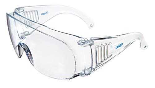 Dräger Schutzbrille X-pect 8110 | Überbrille auch für Brillenträger | Für Baustelle, Labor, Werkstatt und Fahrrad-Fahren | Leicht, klar und mit indirekter Belüftung | 1 St.