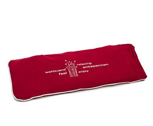 Gözze Körnerkissen mit Jersey Bezug, 50 x 20 cm, Rot, 70001-37