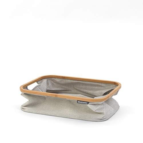 Brabantia Wäschekorb mit Bambus, 40 l, Grau