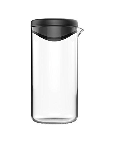 Fiskars Dressing-Shaker, Glas/Kunststoff, 14,5 x 7 x 7,9 cm, Functional Form, Schwarz, 1014347