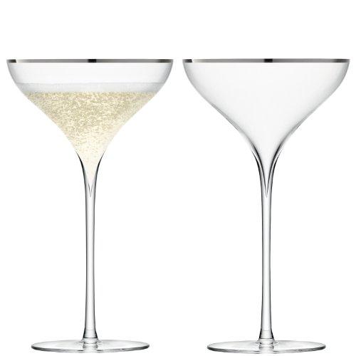 LSA Savoy Platinum Champagnerglas, 250ml, 2Stück