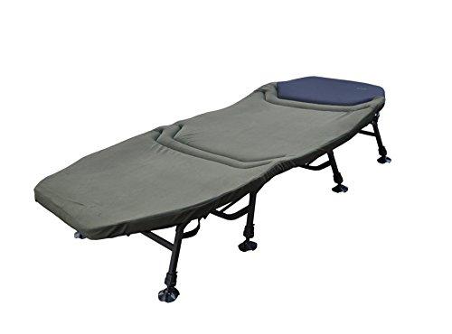 MK-Angelsport 'Platinum X-Flat Bed Chair' 8-Bein Liege mit Matratze Campingliege Gästebett