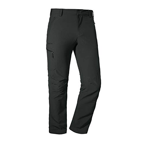 Schöffel Pants Folkstone, Outdoor, strapazierfähige Wanderhose, Wasserabweisende Herren Hose mit sportlichem Schnitt Lang, Asphalt, 50