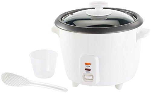 Rosenstein & Söhne Multikocher: Reiskocher mit Warmhaltefunktion, 400 Watt, 1 Liter Fassungsvermögen (Elektrischer Reiskocher)