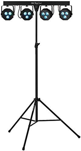 IMG STAGELINE PARL-45SET LED-Scheinwerfer-Set schwarz