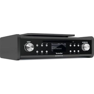 TechniSat Digitradio 20 CD Küchenradio (DAB+, Unterbau-Radio, CD Player, Timer, Kopfhörerausgang, Aux-in) schwarz