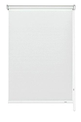 GARDINIA Seitenzug-Rollo zum Abdunkeln, Decken-, Wand- oder Nischenmontage, Lichtundurchlässig, Alle Montage-Teile inklusive, Weiß, 102 x 180 cm (BxH)