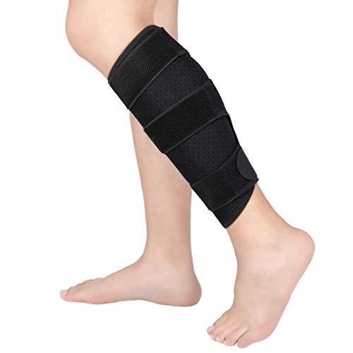 Wadenbandage Doact Verstellbare Kompressions Waden Bandage Verbessertes Tauchmaterial für Männer und Frauen Zog Calf Muskelschmerzen Heftiges Wadenverletzung