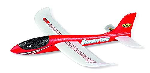 CARSON 500504013 - Wurfgleiter Airshot 490 rot, Wurfgleiter, 100 % flugfertig, Segelflugzeug zum Werfen, Fast unzerstörbar, Perfekte Flugeigenschaften,aus Styropor