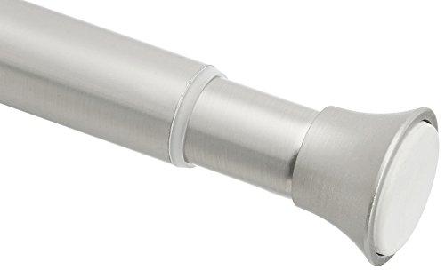 AmazonBasics - Duschvorhangstange zum Einklemmen, 91 - 137cm, Nickel