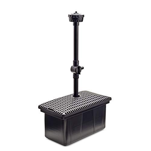 Aquanique Unterwasser Teichfilter UF 3000 | Teichfilter Set mit Wasserspiel und Pumpe | für bis zu 3000 l geeignet