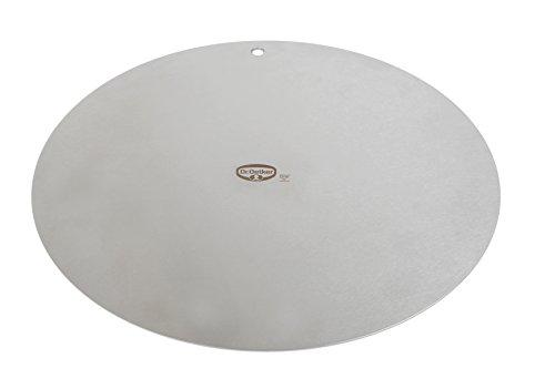 Dr. Oetker Deko- und Transportplatte Ø32cm, Küchenhelfer aus hochwertigem Edelstahl, beidseitig verwendbar, stabile und langlebige Platte, (Farbe: silber), Menge: 1 Stück