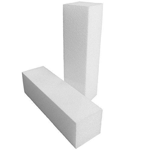 EuBeCos PREMIUM Schleifblock Buffer WEISS - 10 Stück (EU Produkt)