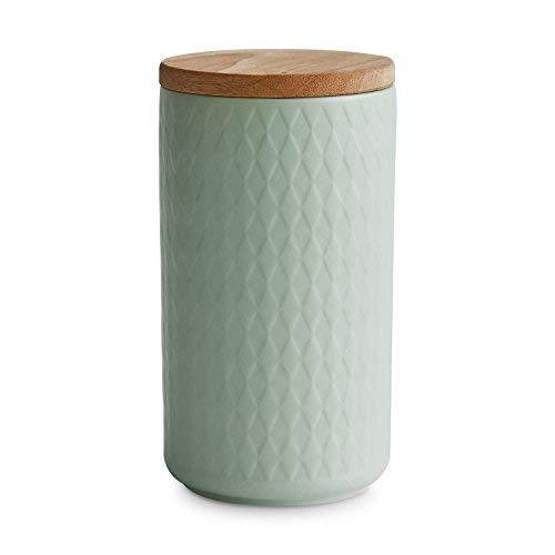 Keramik Vorratsdosen mit Holzdeckel Nordic Reef, Luftdichter Kautschukholz-Deckel, Aufbewahrungsdosen, Frischhaltedosen