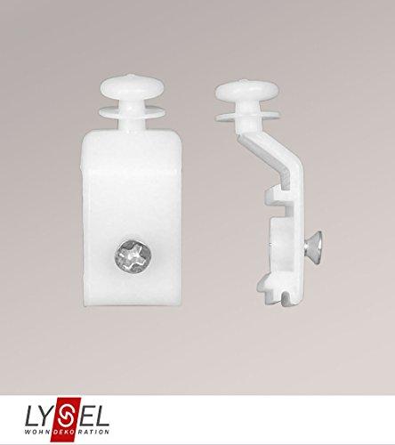 LYSEL Schiebegardine Gleiter für Paneelwagen Höhe: 3,5 cm