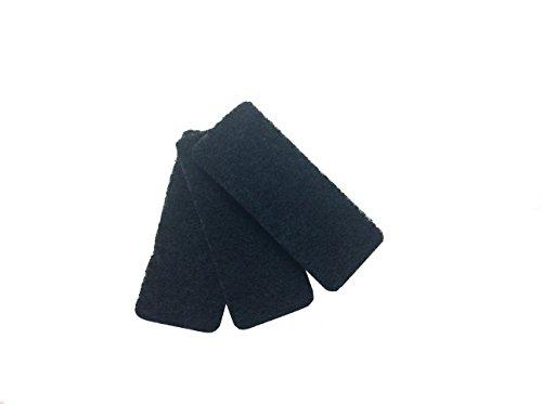 Rotho 3 Ersatzfilter für Komposteimer, Edelstahl, schwarz, 15.2 x 6.4 x 3 cm, 3-Einheiten