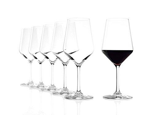 Stölzle Lausitz Rotweingläser Revolution, 490ml, 6er Set Weinglas, hoch funktionelle Roweinkelche, Rotweinglas für viele Rebsorten, spülmaschinenfest
