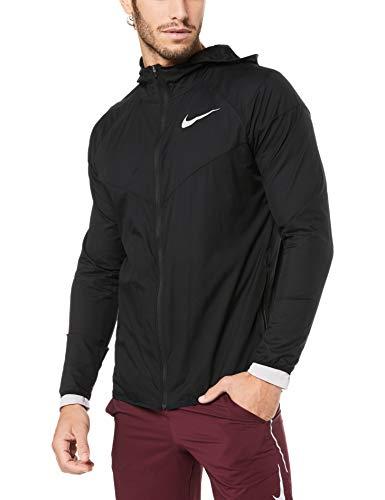 Nike Herren Windrunner Laufjacke, Black/Black/Black/Reflective Silver, XL