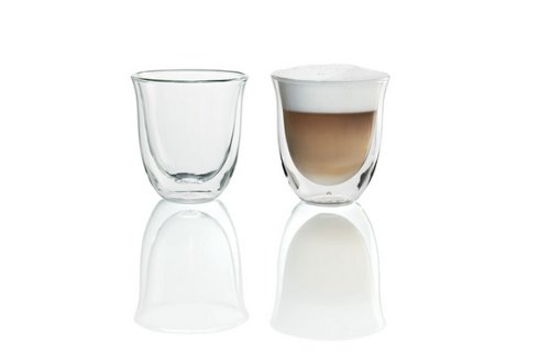 DeLonghi 5513214601 Doppelwandiges Thermoglas (Cappuccino) 2er Set