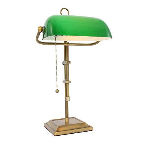 Tischleuchte Peters-Living 3767089 Schreibtischlampe Bronze Glas Bankerlampe