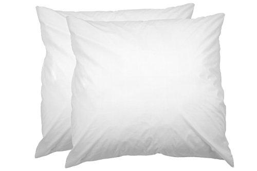 AmazonBasics Kissenbezug mit Reißverschluss, 100 % weiche Baumwolle, 80 x 80 cm, 2 Stück