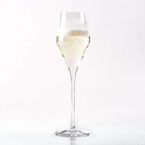 Topkapi 250.479 - Champagnerglas 'Josephine', bleifreies Kristallglas, Volumen 25 cl, Made in Germany, 6 Stück