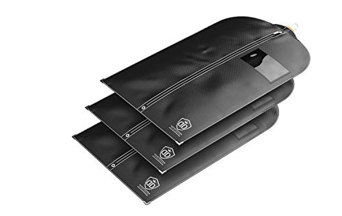 Divine Designs 3 x Kleidersack Anzug + Schuhbeutel - Kleiderhülle   Anzugtasche - Material (125 GSM)   Atmungsaktiv & Wasserdicht   Reise Schutzhülle   102 x 60 cm