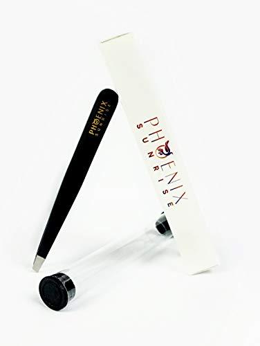 Pinzette aus Edelstahl - Premium Qualität für professionelles Zupfen der Augenbrauen mit einer Präzisionsspitze und Schutzhülle, optimale Haarentfernung, perfekt für Deine Schönheit