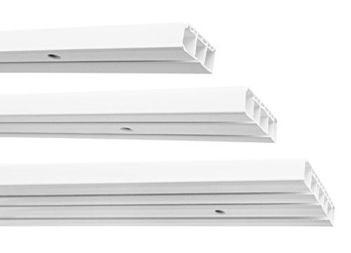 Garduna   150cm /1-läufig   Kunststoff Gardinenschiene Vorhangschiene, (1-/ 2-/ 3-läufig, Kunststoff, weiss)