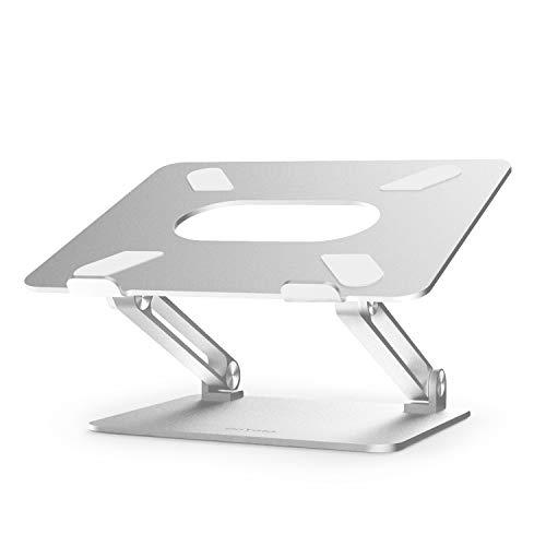 BoYata Laptop ständer: Multi-Angle-Standfuß mit Heat-Vent, Aluminium Einstellbares Notebook ständer kompatibel für Laptop (4-17 Zoll), einschließlich MacBook Pro/Air, Surface, Samsung, HP -Silber