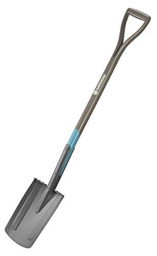GARDENA NatureLine Spaten: Gartenspaten aus Qualitätsstahl zum Umgraben und Ausheben, sicherer Trittsteg, Stiel aus FSC-Eschenholz, D-Griff (17000-20)