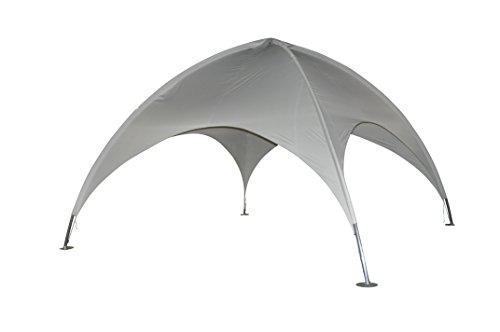 Leco Kuppelzelt, Lichtgrau, ca. 500 x 500 cm Höhe ca. 350 cm Rohr: ca. Ø 50 mm, 1 mm stark