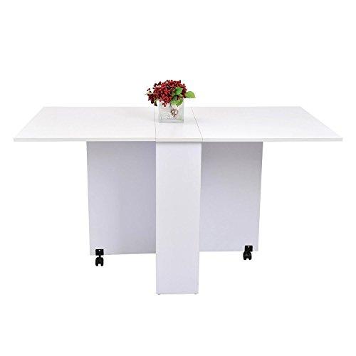 homcom Beistelltisch, Holz, weiß, 80 x 80 x 74 cm