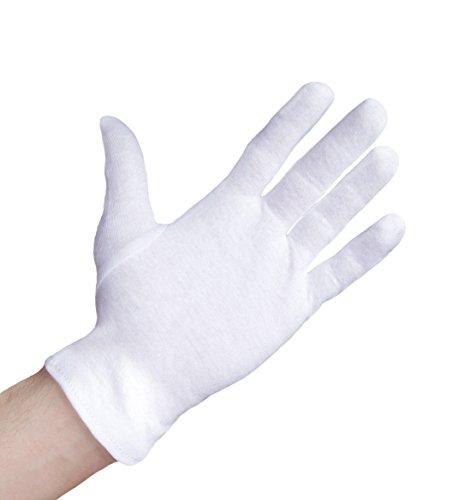 Well B4 Care Baumwollhandschuhe, Medizinische Zwirnhandschuhe aus 100% Baumwolle zum Schutz der Hände bei trockener Haut, Neurodermitis und Ekzemen, 3 Paar, weiß, Größe S