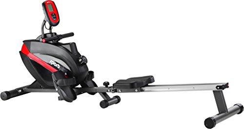 SportPlus Rudermaschine • Rudergerät für zuhause klappbar • leises & hochwertiges Magnetbremssystem • Trainingscomputer mit 5kHz Pulsempfänger • Nutzergewicht bis 150kg • SP-MR-008-B • Sicherheit geprüft