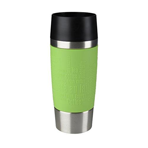 Emsa Isolierbecher Mobil genießen 360 ml Quick Press Verschluss Travel Mug -Grün (Manschette Limette)