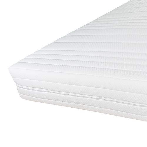 Hochwertiger Komfort Matratzenbezug für Matratzen im Gesamtmaß 90x200cm 16cm Höhe - Doppeltuch mit Klimafaser versteppt - Allergiker geeignet - 60 Grad waschbar - 4-seitiger Reißverschluss